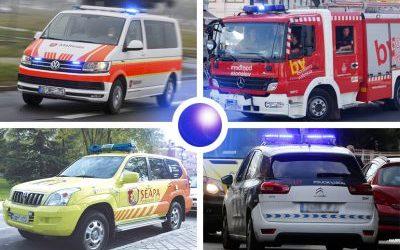 Luz azul para todos los vehículos prioritarios