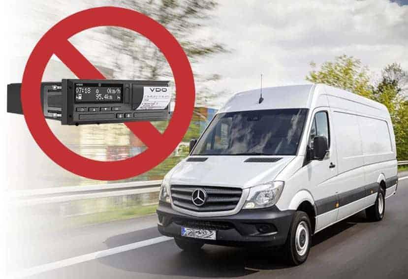 Fomento no puede reglar el tacógrafo obligatorio en furgonetas