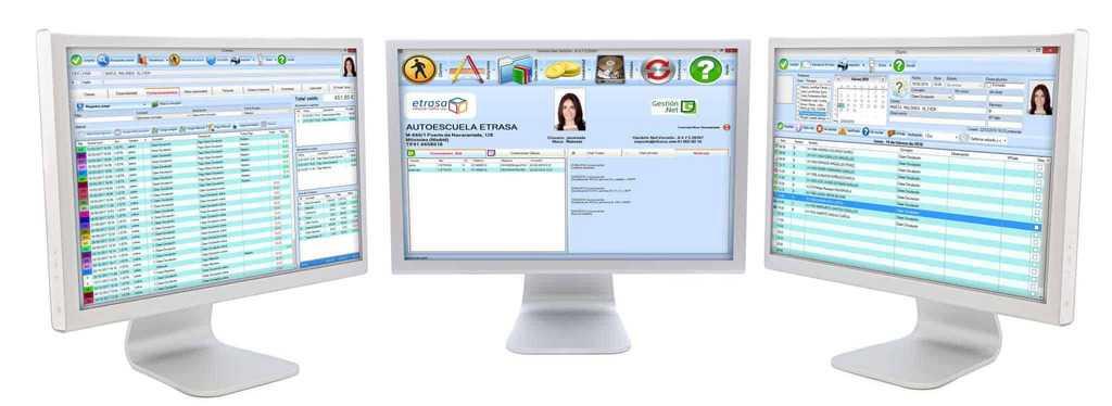 programa test autoescuela software gestión
