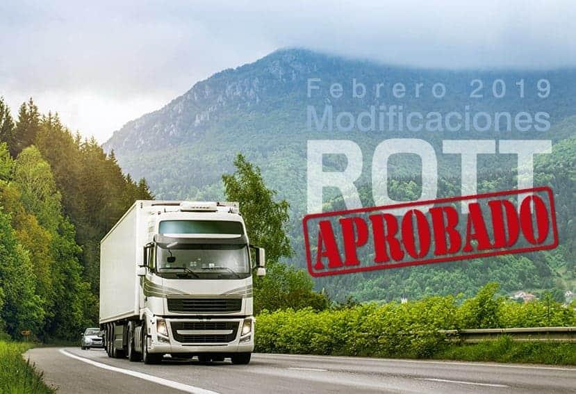 Aprobada la modificación del ROTT