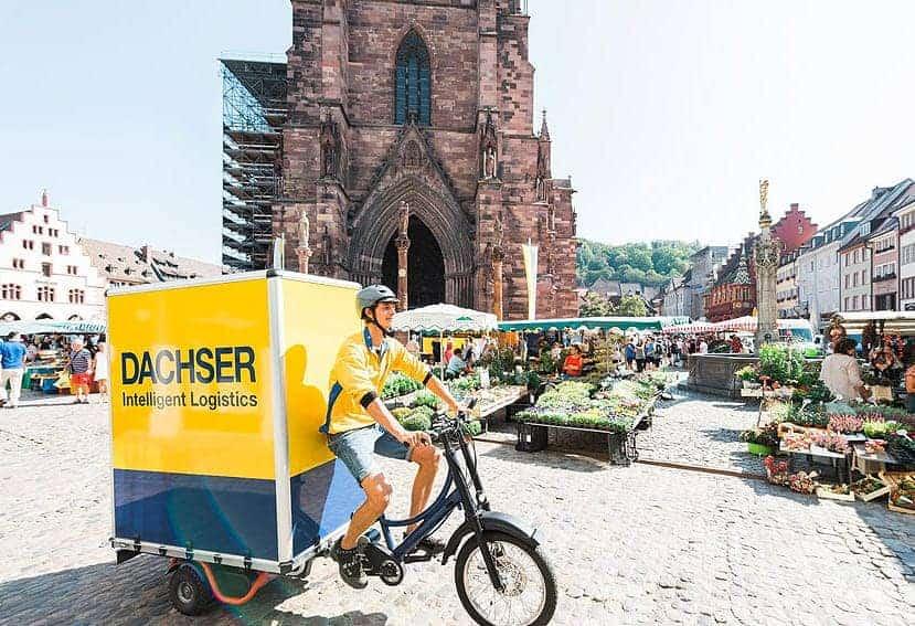 Transporte de mercancías en bicicleta eléctrica