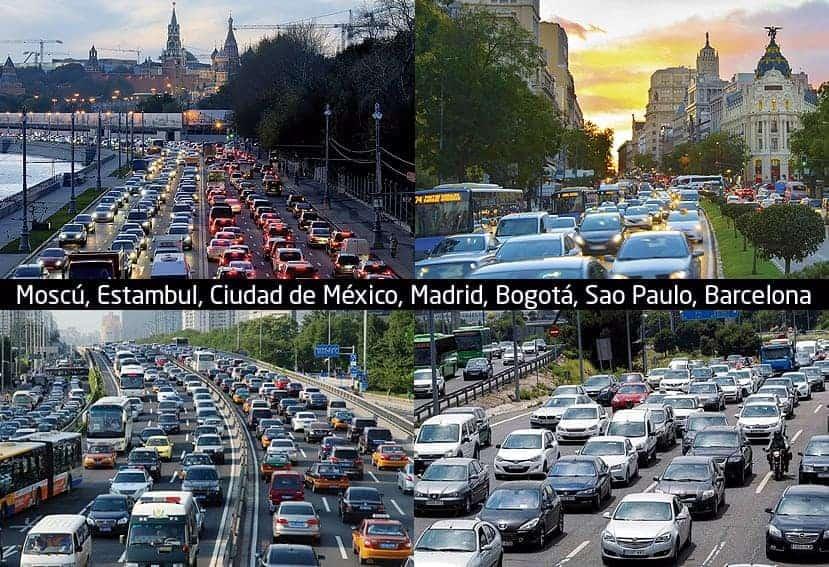 ciudades con más atascos