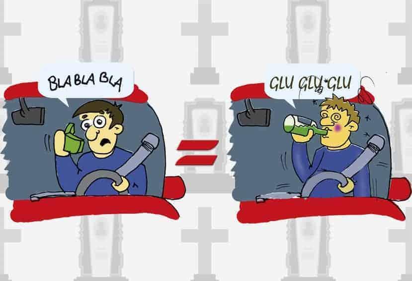 Argentina: Alcohol vs. Móvil al volante