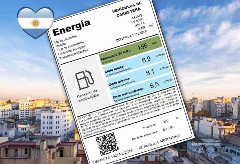 Argentina: Descubre la etiqueta de eficiencia energética para los vehículos
