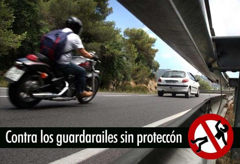 Motoristas contra los guardarraíles sin protección