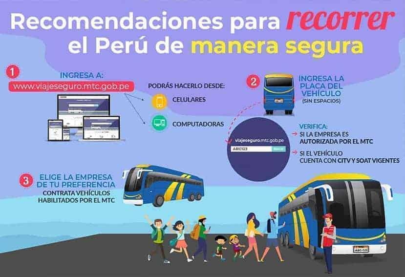 Recorrer Perú en autocar de forma segura