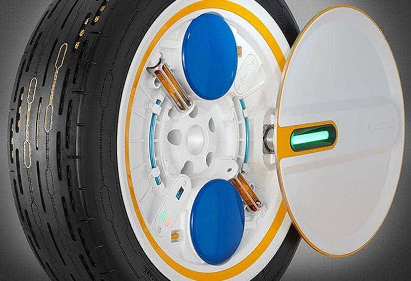 Creado un neumático que se infla solo