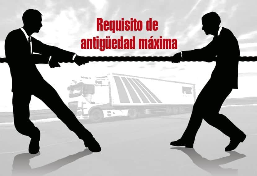 Fomento contra la modificación del requisito de antigüedad máxima para el transporte
