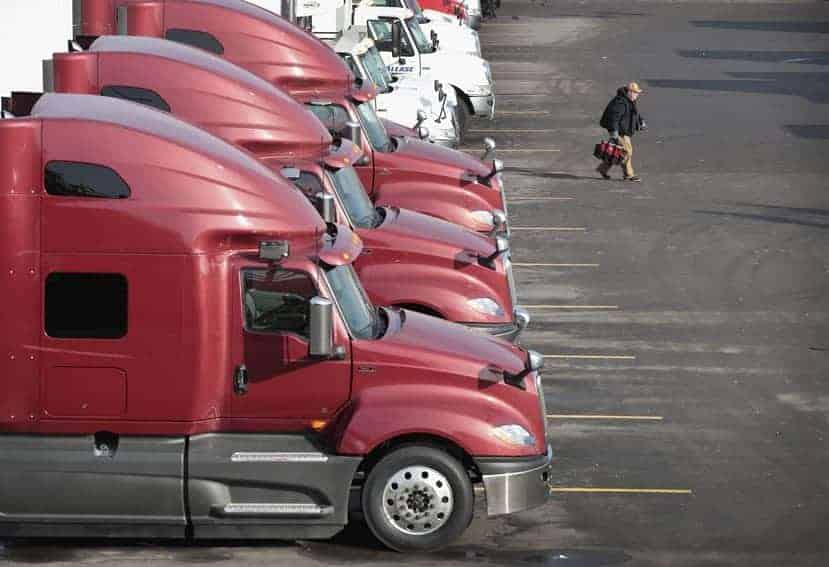 Falta de conductores de camión