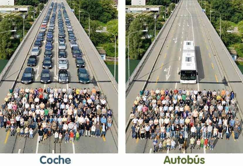 El elemento clave en la movilidad sostenible es el autobús