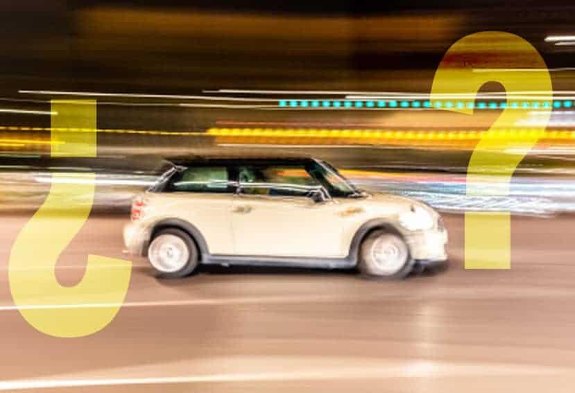 Si el conductor no ha sido identificado, nunca se podrá multar por exceso de velocidad